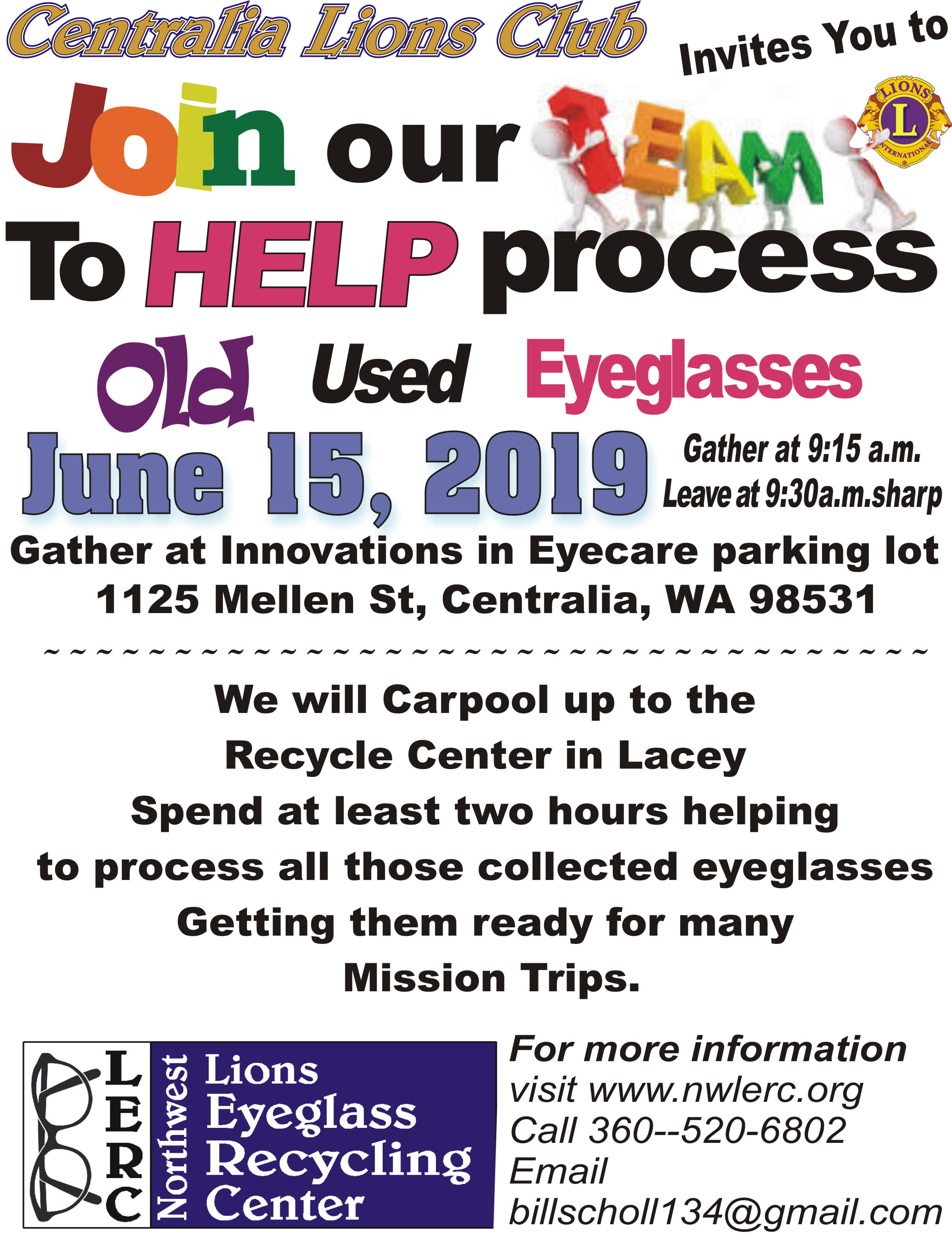 Join Our Team For June 2019 X Centralia Chehalis Chamber